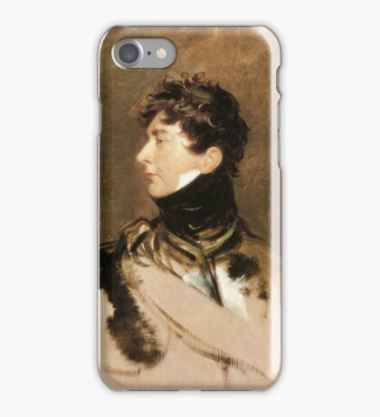 The Prince Regent by Sir Thomas Lawrence, c. 1814. iPhone Case/Skin