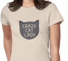 Crazy Cat Lady. Womens Fitted T-Shirt