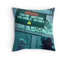 Public Announcement Throw Pillow