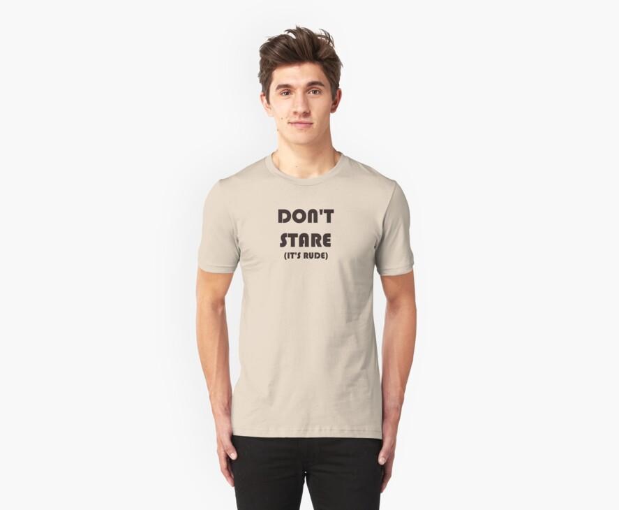 DON'T STARE  ---  IT'S RUDE! by whittyart