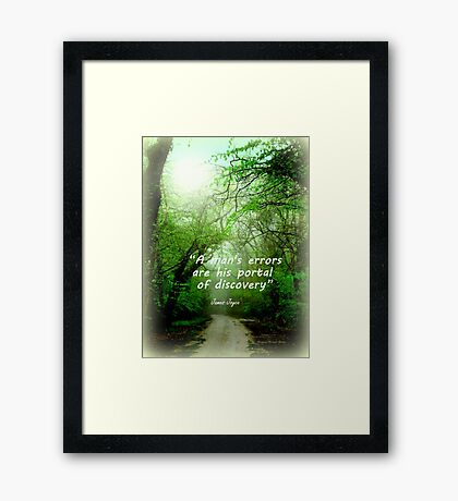 Portal of Discovery Framed Print