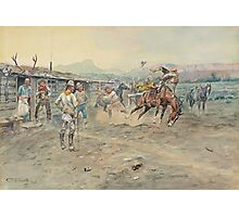 The Tenderfoot (1900) by Charles Marion Russell Photographic Print