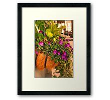 Sidewalk Garden Framed Print