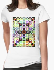 crazy pattern Womens Fitted T-Shirt