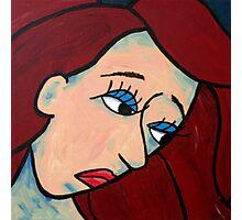 Sad Girl Expressive Abstract Portrait Photographic Print