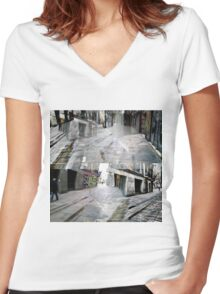 CAM02127-CAM02130_GIMP_A Women's Fitted V-Neck T-Shirt