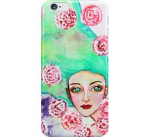 Girl with Green Hair iPhone Case/Skin
