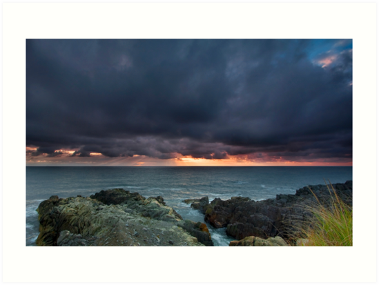 Stormy Sunrise Louisbourg Nova Scotia Canada by EvaMcDermott