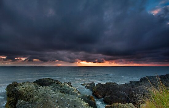 Stormy Sunrise Louisbourg Nova Scotia Canada by EvaMcDermott