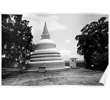 Buddhist Temple in Sri Lanka Poster