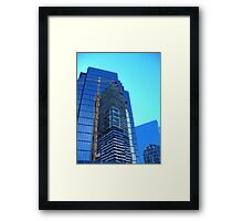 Abstract on Glass Framed Print