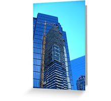 Abstract on Glass Greeting Card