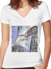 CAM02242-CAM02245_GIMP_A Women's Fitted V-Neck T-Shirt