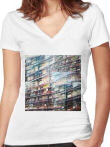 CAM02246-CAM02249_GIMP_A Women's Fitted V-Neck T-Shirt