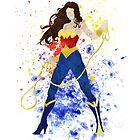 Superheroine Splatter Art by ProjectPixel