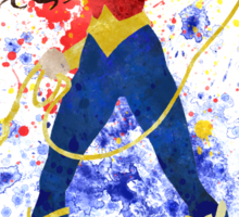WonderWoman Splatter Art Sticker