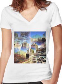 CAM02282-CAM02285_GIMP_A Women's Fitted V-Neck T-Shirt