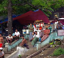 Irrawaddy village, Burma by John Mitchell