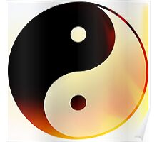 Yin and Yang Flame Poster