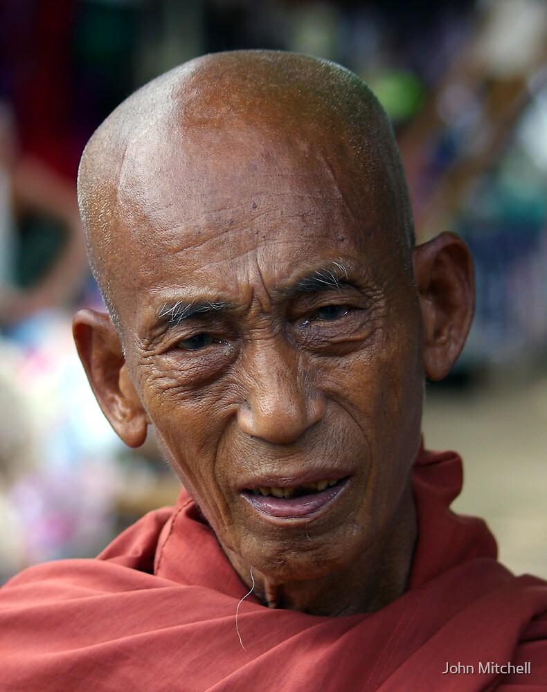 Buddhist monk, Katha, Burma by John Mitchell