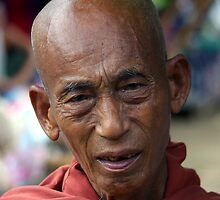 Buddhist monk, Katha, Burma by John Mitchell