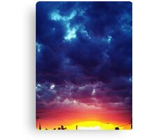 red and blue Clouds Canvas Print