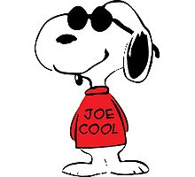 Snoopy in Joe Cool Photographic Print
