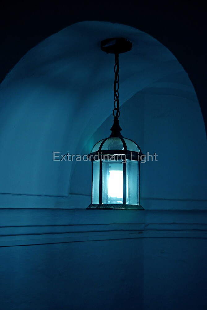 Blue Lantern at Torro del Oro by Renee Hubbard Fine Art Photography