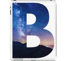 The Letter B - night sky iPad Case/Skin
