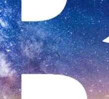 The Letter B - night sky Sticker