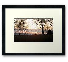 Changing of the Seasons, Changing of the Day! Framed Print
