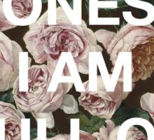 To Be Honest, I Am Full of Shit - Floral Hipster/Tumblr/Trendy Roses Meme Sticker