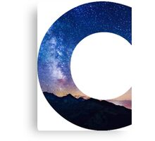 The Letter C - night sky Canvas Print