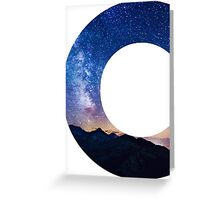 The Letter C - night sky Greeting Card