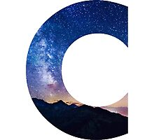 The Letter C - night sky Photographic Print