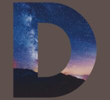 The Letter D - night sky Kids Clothes