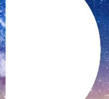 The Letter D - night sky Sticker
