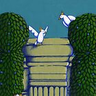 Birdies Wall Topiary walk in the Park Colour by Donna Huntriss