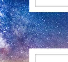 The Letter E - night sky Sticker