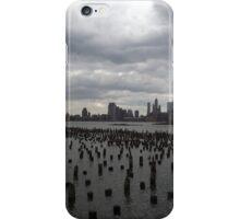 Abandoned Pier, Hudson River, Lower Manhattan Skyline, World Trade Center, New York City iPhone Case/Skin