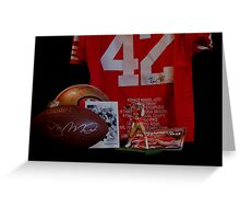 49er GREATS Greeting Card