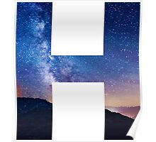 The Letter H - night sky Poster