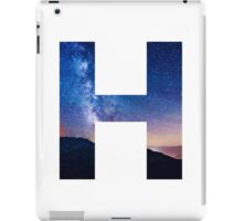 The Letter H - night sky iPad Case/Skin