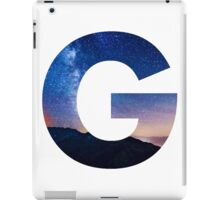 The Letter G - night sky iPad Case/Skin