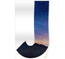 The Letter J - night sky Poster