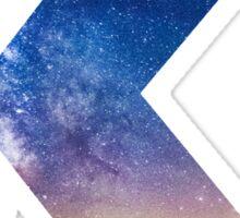 The Letter K - night sky Sticker