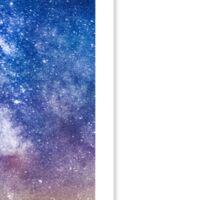The Letter L - night sky Sticker