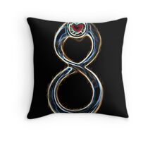 Infinite Burning Love Throw Pillow