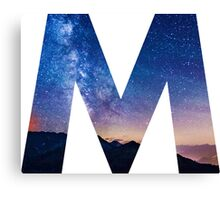 The Letter M - night sky Canvas Print