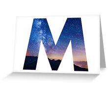The Letter M - night sky Greeting Card